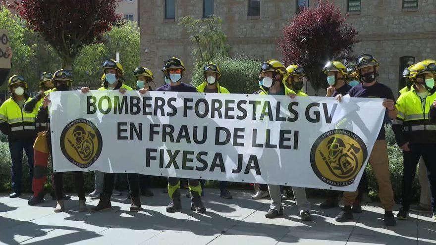 Els bombers forestals de la Generalitat han dut a terme diverses jornades de vagues durant tot l'estiu