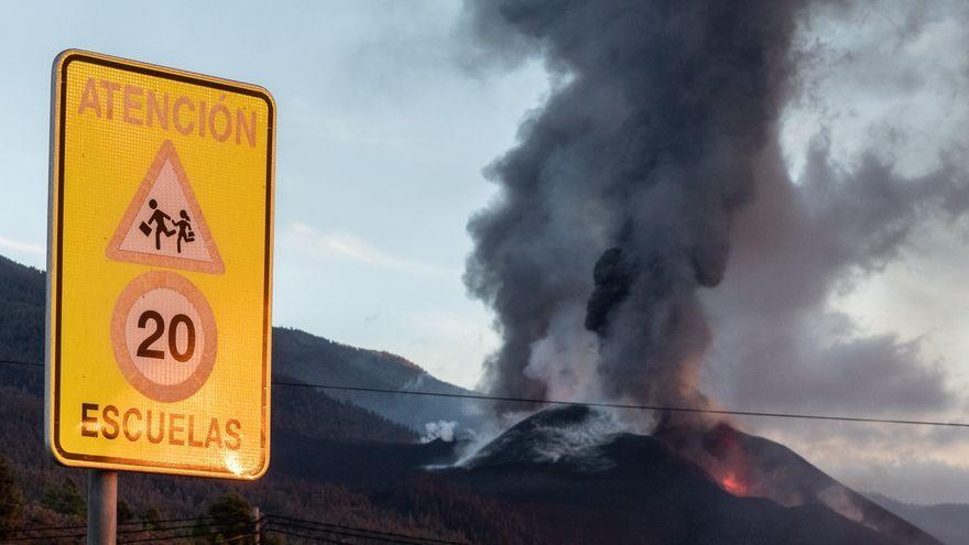 Una imatge del volcà d'aquest dimecres