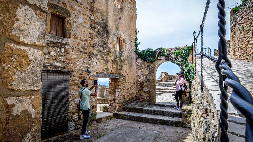 Turistes al mirador de Culla