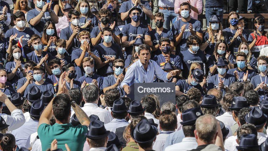 El president del PP a la Comunitat Valenciana, Carlos Mazón, en la convenció nacional del PP a València