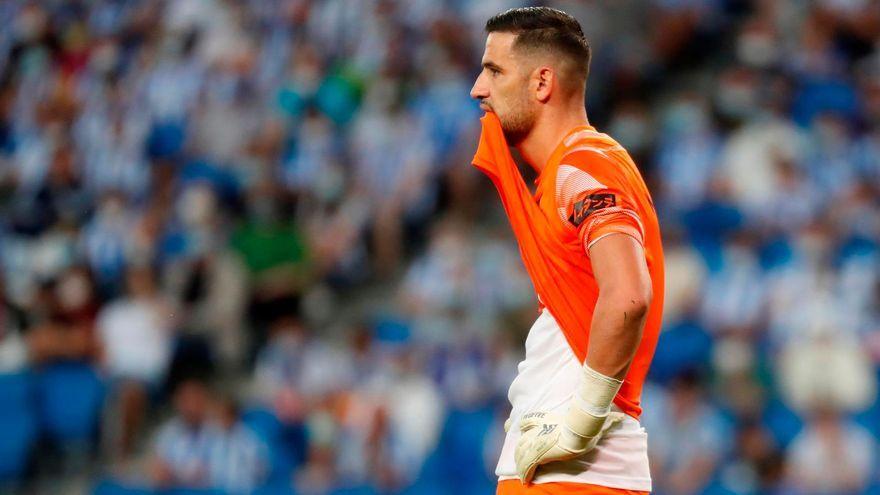 Kiko Casilla es lamenta després del gol dels bascos