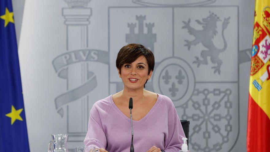 La ministra i portaveu del govern espanyol, Isabel Rodríguez, aquest dimarts en la roda de premsa posterior al Consell de Ministres