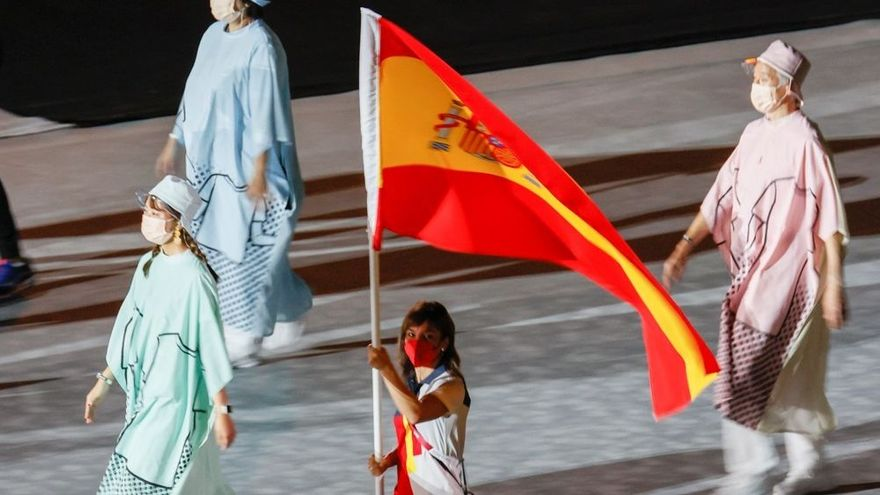 Sandra Sánchez, abanderada en la cerimònia de clausura dels Jocs Olímpics de Tòquio 2020