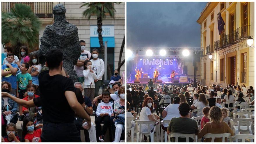 Alzira, a l'esquerra, i Aielo de Malferit, a la dreta, acolliran el 2022 nombroses activitats culturals