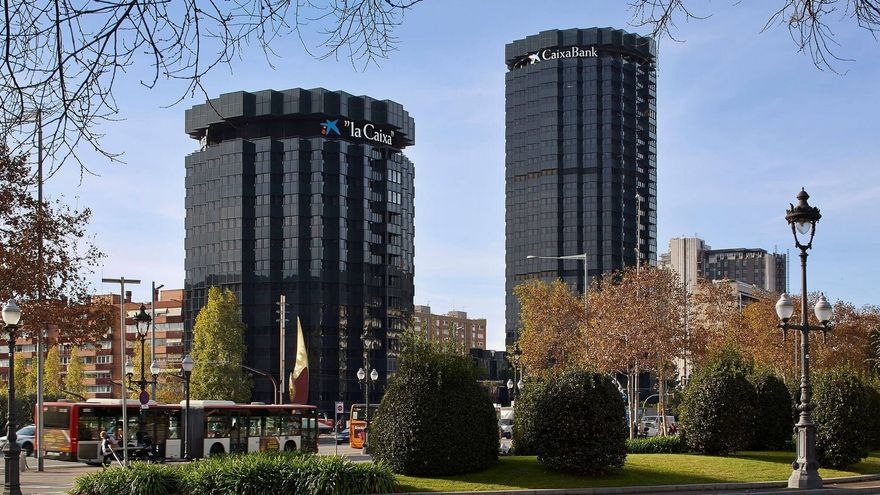 La seu de CaixaBank a Barcelona en una imatge d'arxiu