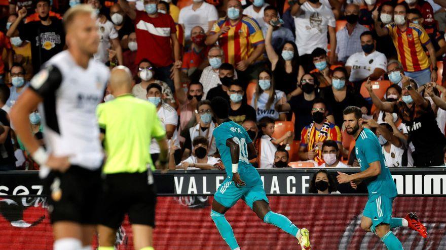 Vinicius celebra un gol del Reial Madrid