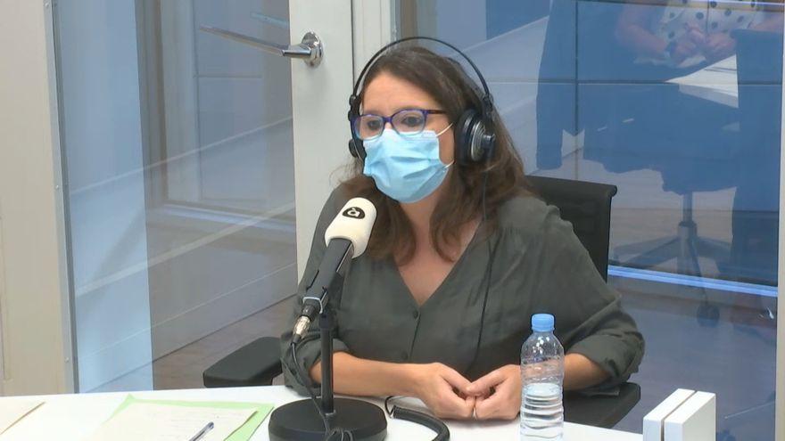 La vicepresidenta del Consell, Mónica Oltra, durant la seua intervenció en 'Les notícies del matí'