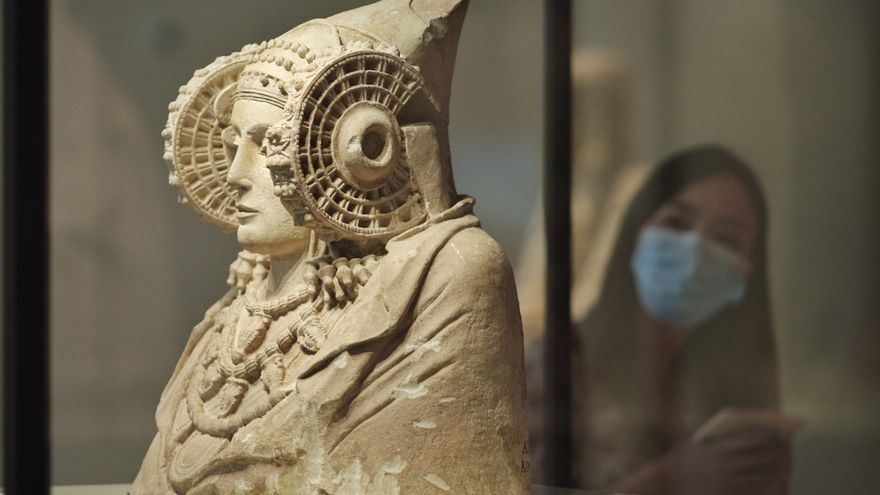 La Dama d'Elx al Museu Arqueològic Nacional, a Madrid, on es conserva actualment