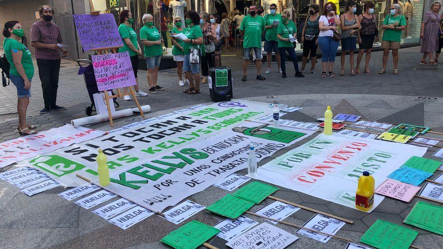 Imatge de Las Kellys Benidorm durant la protesta d'aquesta vesprada
