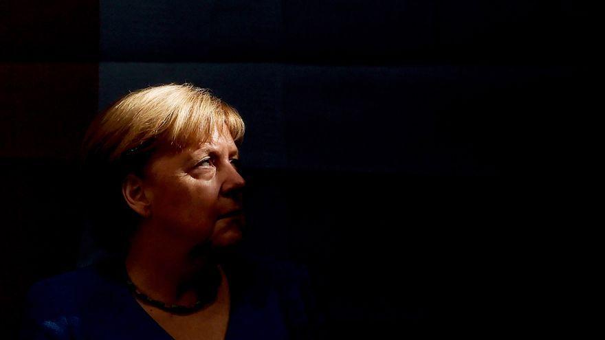 La cancellera Angela Merkel durant la clausura de la campanya del seu partit