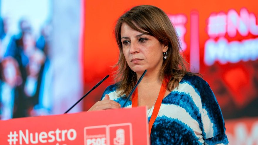 Adriana Lastra aquest dissabte a l'acte del PSOE a Extremadura