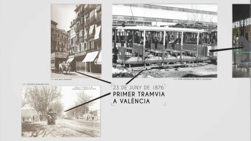 El primer tramvia que va arribar a València era de tracció animal