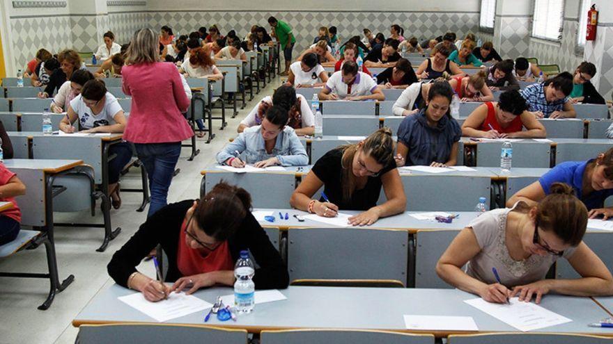 Imatge d'arxiu d'un examen d'oposició