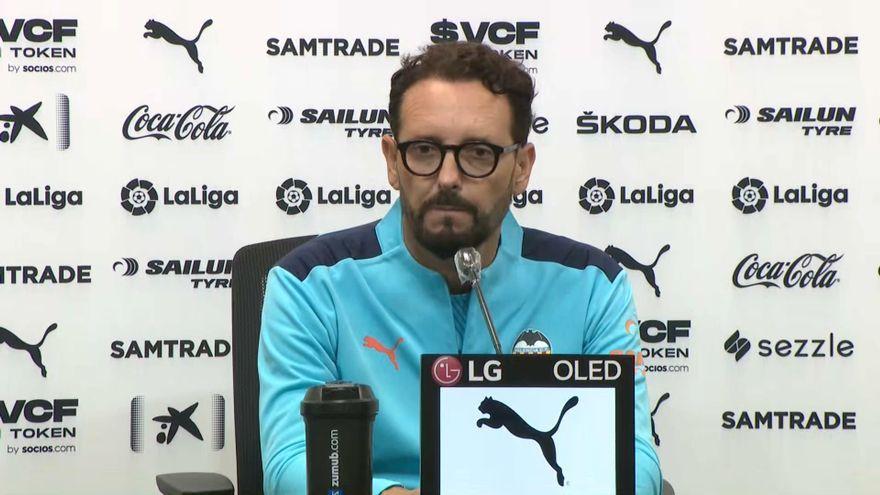 L'entrenador del València CF, José Bordalás