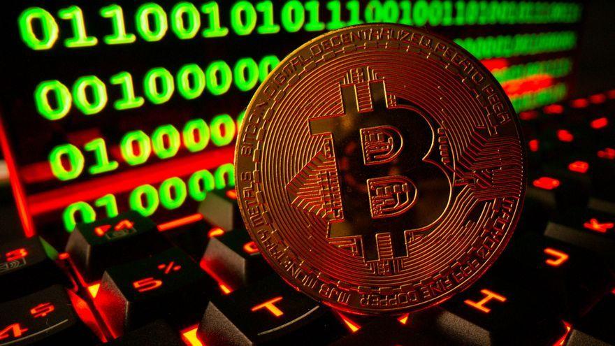 Representació de la criptomoneda Bitcoin
