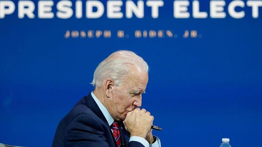 El president electe dels Estats Units, Joe Biden, en una videoconferència amb alcaldes, a Wilmington, Delaware (els EUA)