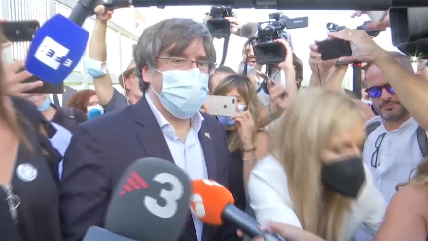 Eixida de Carles Puigdemont de la presó de Sàsser