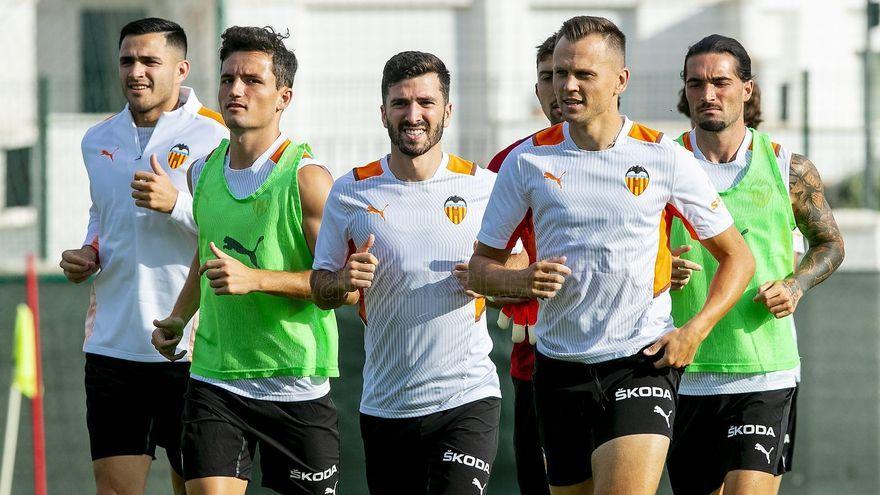 Imatge d'un entrenament del València CF