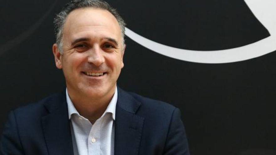 José Puentes, durant la seua etapa com a director general del València Basket.