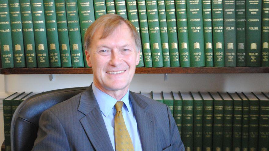 El diputat assassinat, David Amess, en una foto d'arxiu