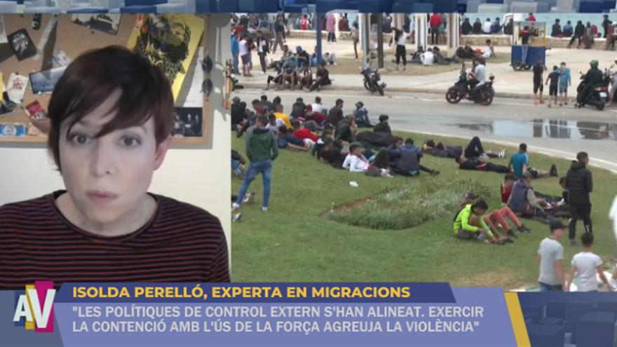 Isolda Perelló, experta en migracions, durant l'entrevista en el programa 'A la Ventura'