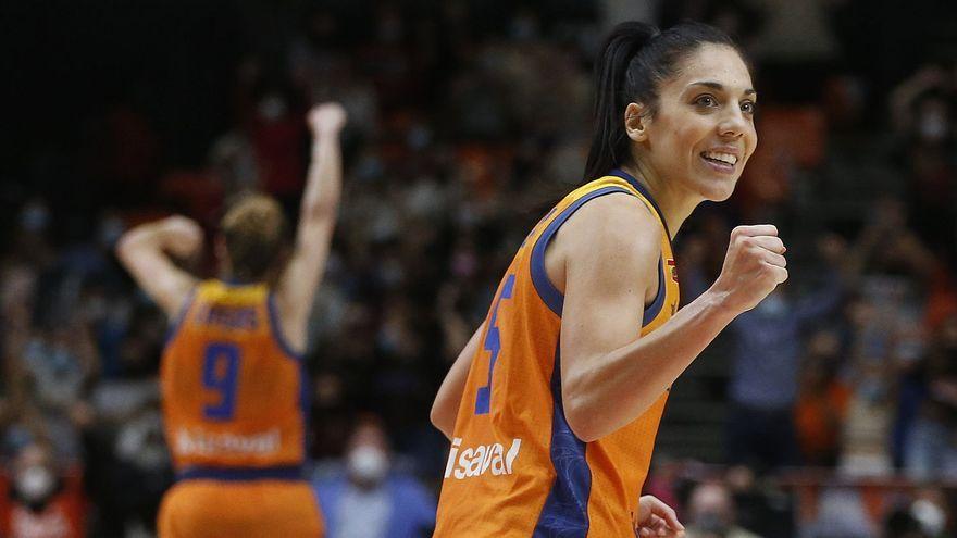 La jugadora del València Basket, Cristina Ouviña