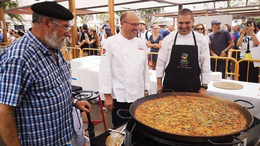 Rafael Vidal, del restaurant Levante de Benissanó, participant en l'edició del World Paella Day de 2019