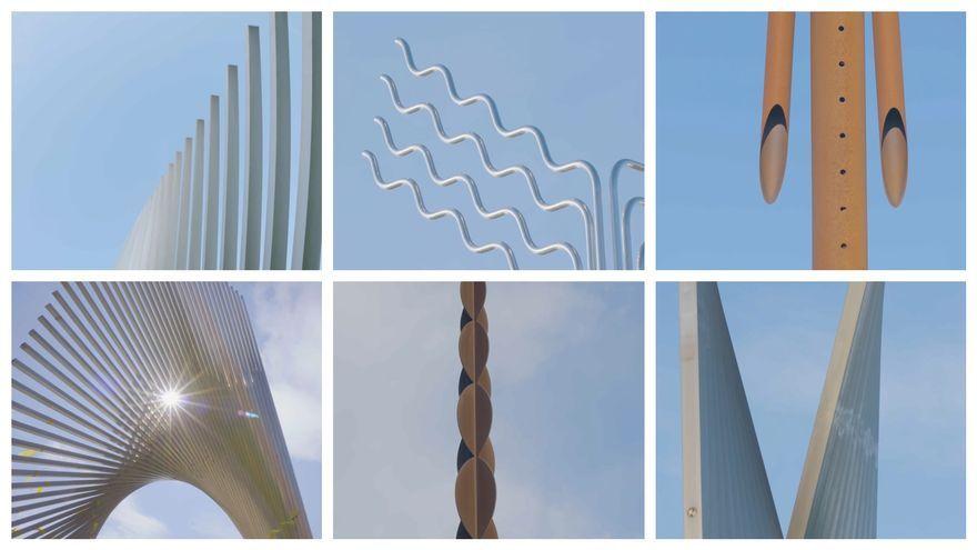 Ferro, alumini, acer, zinc, metacrilat, fusta i marbre, alguns dels materials amb què treballava Andreu Alfaro