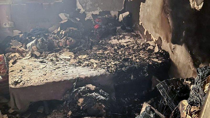 Imatges de l'habitatge on s'ha originat l'incendi