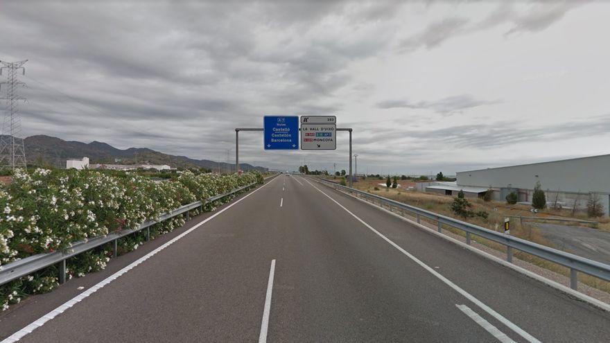 Autovia A-7 al pas per la Vall d'Uixó