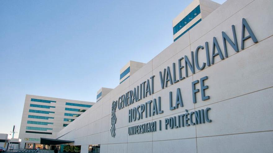 Una imatge de la façana de l'Hospital La Fe de València