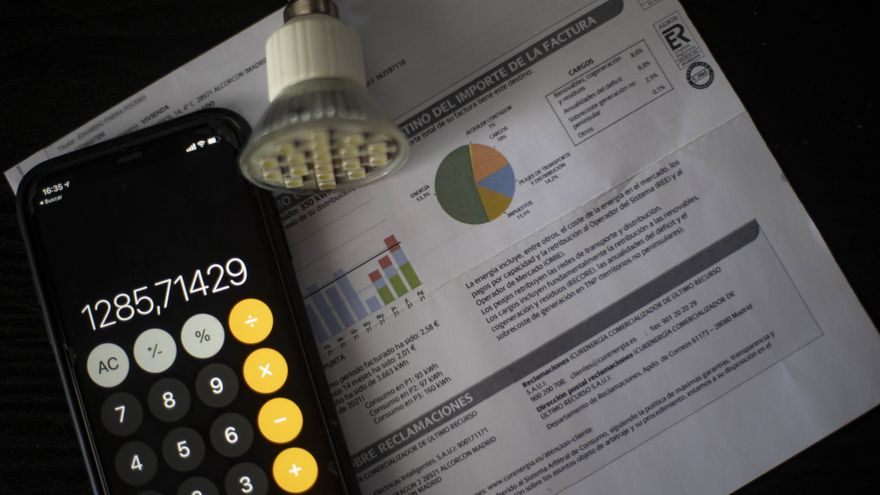 Una factura del consum de llum del 10 de setembre del 2021