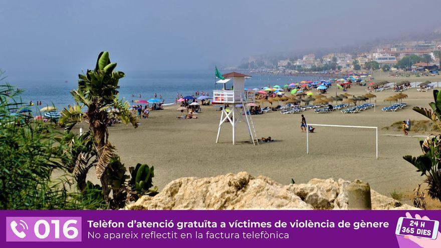 Platja de la localitat costanera de Rincón de la Victoria en una imatge d'arxiu