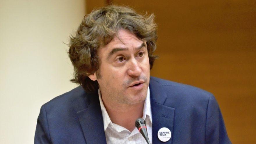 Rubén Trenzano durant una compareixença