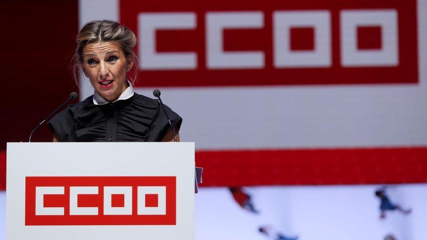 Yolanda Díaz en el 12é Congrés Federal de Comissions Obreres