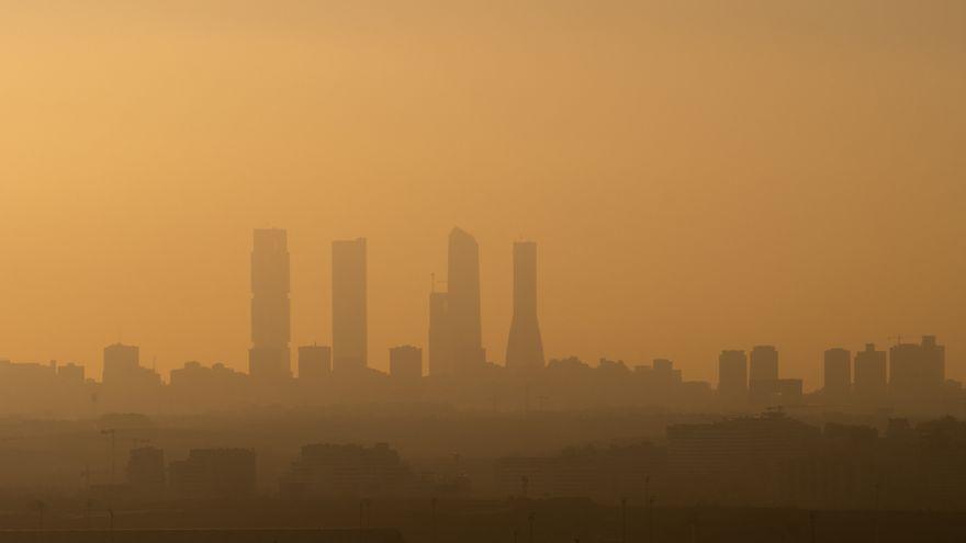 Imatge d'arxiu de la contaminació a Madrid
