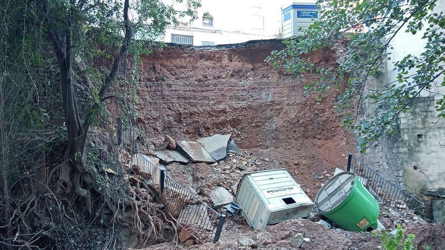 El forat causat per la pluja a Moixent (Costera)