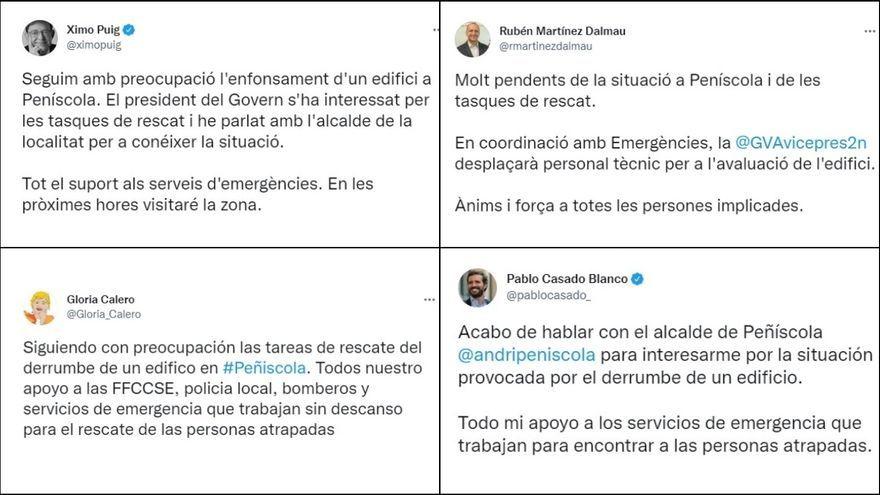 Publicacions dels líders polítics a Twitter