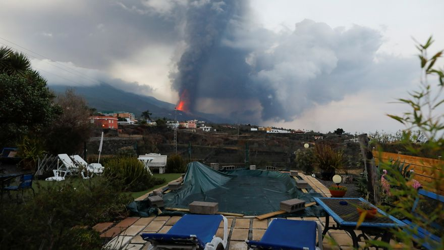 Imatge de l'erupció del volcà