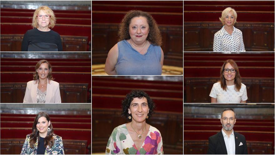 Les set falleres i el faller que integren la nova junta directiva de l'organisme faller de València