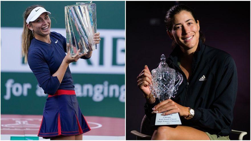 Les tenistes Paula Badosa i Garbiñe Muguruza