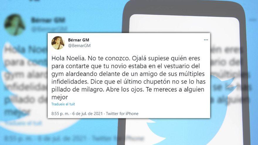 Captura del tuit de Bérnar Giménez