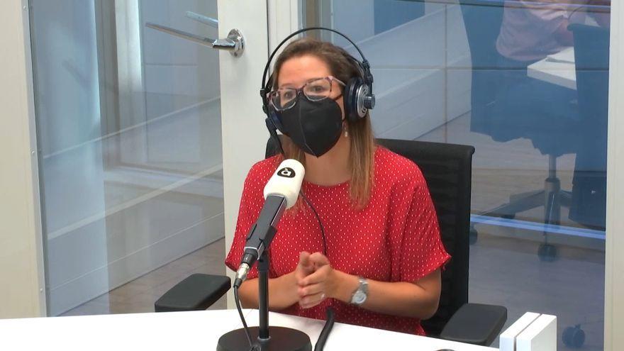 La bióloga del CSIC Mireia Coscollá durant l'entrevista en 'Les notícies del matí'
