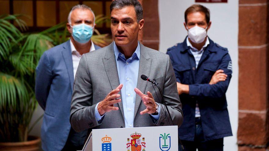 El president del govern espanyol, Pedro Sánchez, a Santa Cruz de la Palma