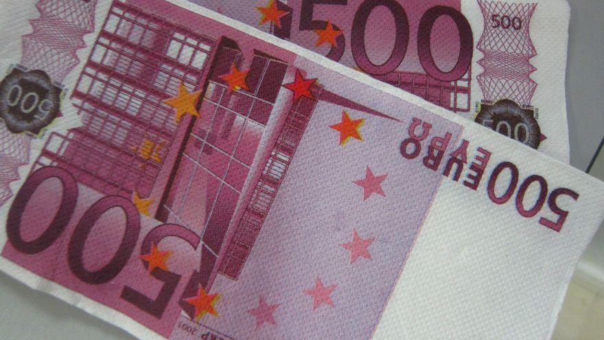 Dos bitllets de 500 euros