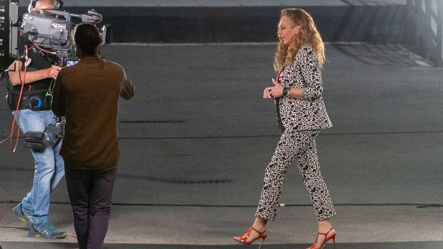 Rocío Carrasco entra en un plató de Telecinco