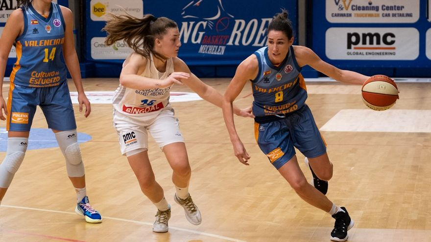 Rebecca Allen va disputar els seus minuts amb València Basket després de jugar en els Jocs Olímpics i en la Women NBA