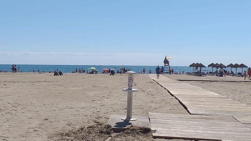 Imatge de la platja de la Patacona a Alboraia, un dels municipis on més s'ha reduït la incidència