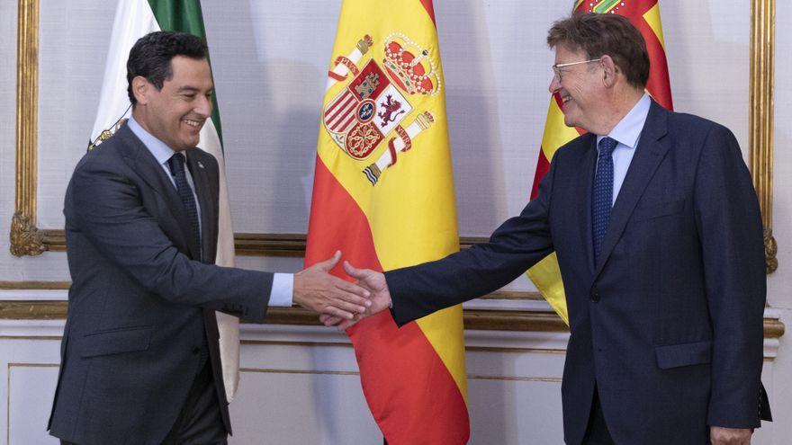 El president de la Junta, Juanma Moreno, es reuneix a Sevilla amb el president de la Generalitat, Ximo Puig