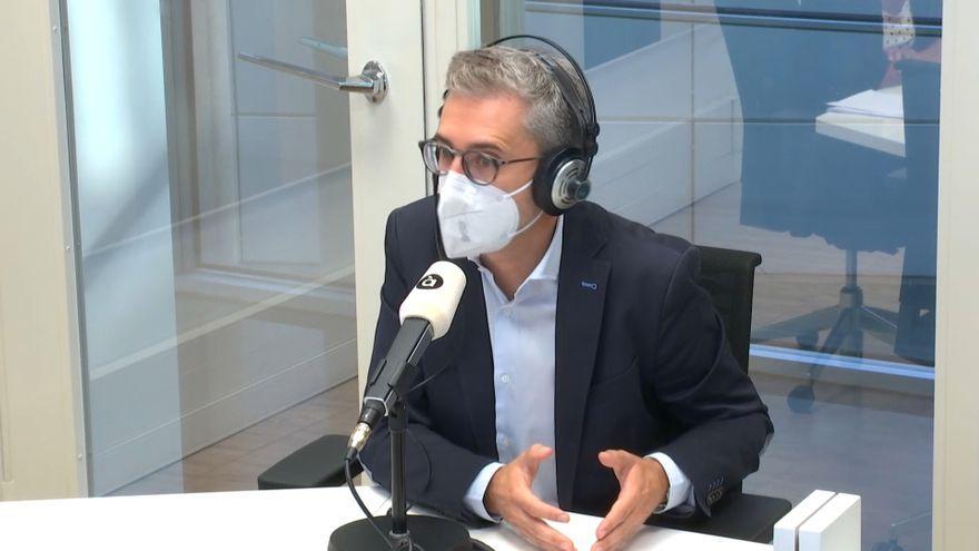 El conseller de Política Territorial, Arcadi España, aquest dimarts en À Punt